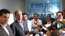 Esteban Moctezuma Barragan, en Rueda de Prensa en Chihuahua